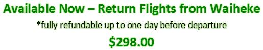 waiheke flights
